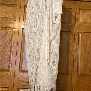 white lace cardigan